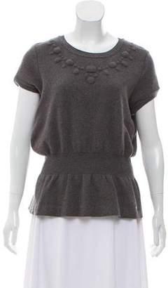 Chanel Wool Short Sleeve Top