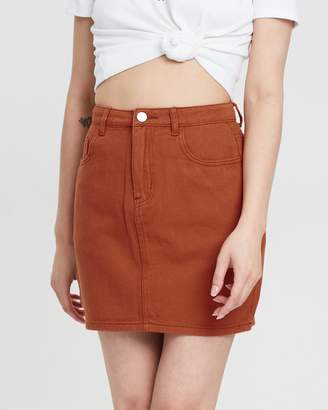 Missguided A-Line Denim Mini Skirt