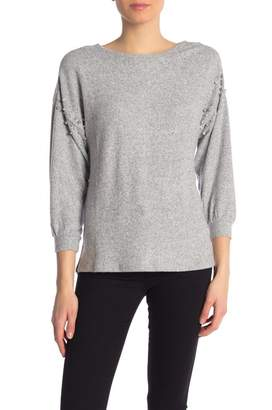 Democracy Faux Pearl Soft Knit Sweater