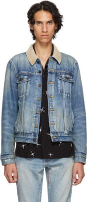 Saint Laurent Blue Rusty Denim Jacket