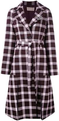Christopher Kane plaid pattern coat