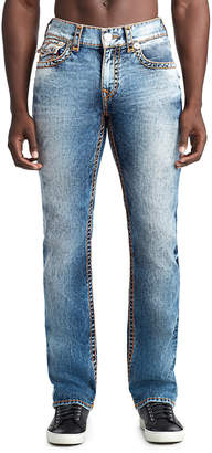 True Religion MENS CONTRAST SUPER T STRAIGHT JEAN W/ FLAP