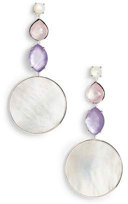 Ippolita Wonderland Long Multi Shape Stone Earrings