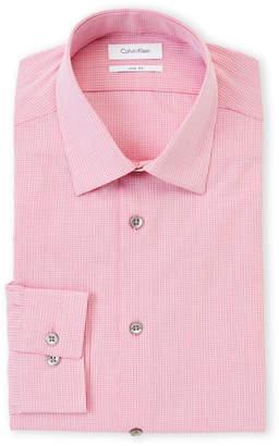 Calvin Klein Hibiscus Check Slim Fit Dress Shirt
