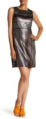 Derek Lam 10 Crosby Metallic Stripe Shift Dress