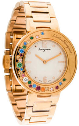 Salvatore Ferragamo Gancino Watch $695 thestylecure.com
