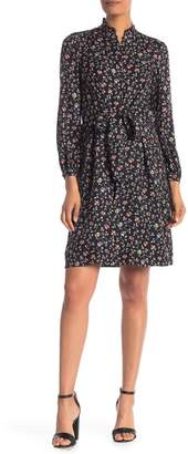 18a97c2a419a Rebecca Taylor Long Sleeve Floral Silk Shirt Dress