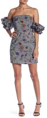 Romeo & Juliet Couture Ruffle Blouson Sleeve Off-the-Shoulder Dress