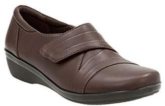 Clarks Women's Everlay Tara Slip On, Brown, Size 9.0