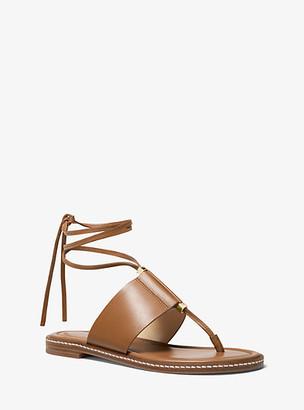 Michael Kors Marlon Leather Lace-Up Sandal