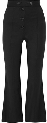 Proenza Schouler - Cropped Stretch-wool Flared Pants - Black $955 thestylecure.com