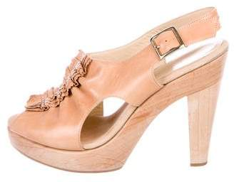 Loeffler Randall Leather Ruffle Sandals
