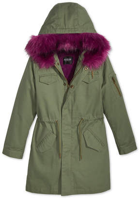 GUESS 9/3 Big Girls Damson Parka