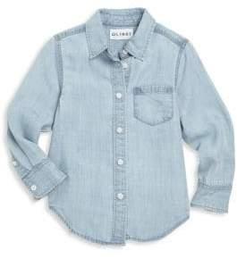Little Girl's Long Sleeve Denim Shirt