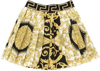 Versace Baroque Print Cotton Poplin Skirt