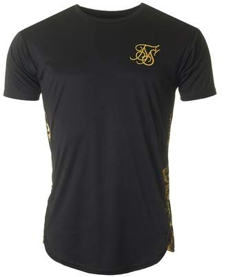 SikSilk Short Sleeved Curved Hem Slide T-shirt