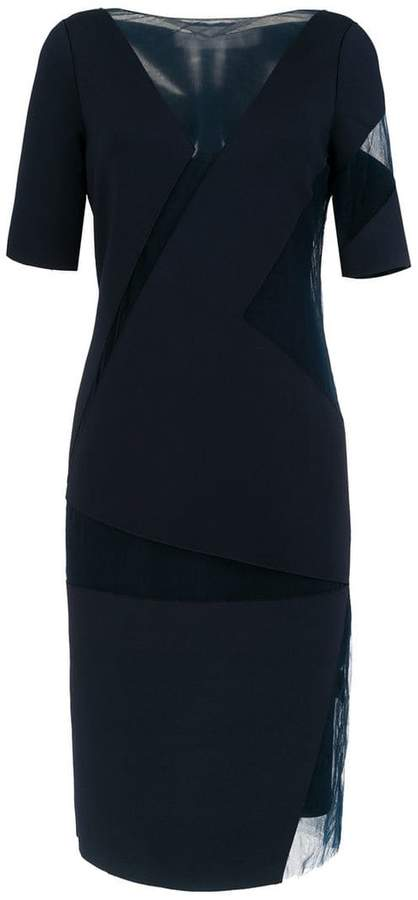 Gloria Coelho geometric midi dress