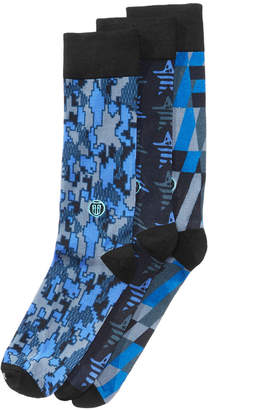 TallOrder Men's Big & Tall 3-Pk. Printed Dress Socks