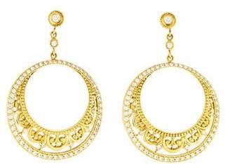 Penny Preville 18K Diamond Medieval Lace Drop Earrings