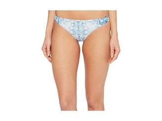 Roxy Softly Love Print Reversible Surfer Bikini Bottom Women's Swimwear