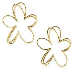 Oscar de la Renta Pewter Botanical Scribble Earrings