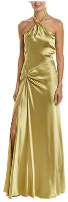 Issue New York Olive Satin Gown