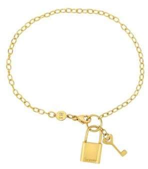 Saks Fifth Avenue 14K Yellow Gold Lock and KeyChain Bracelet