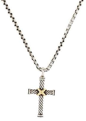 David Yurman X Cross Pendant Necklace silver X Cross Pendant Necklace