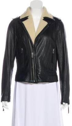 Joie Leather Zip-Front Jacket