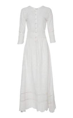 LoveShackFancy Caroline Midi Eyelet Dress