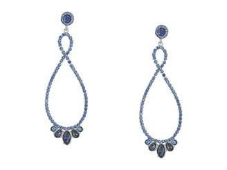 GUESS Stone Loop Drop Earrings Sapphire