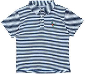 Barneys New York Haas Brothers Xo Kids' Snake-Embroidered Striped Jersey Polo Shirt