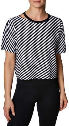 Betsey Johnson Diagonal Stripe Cropped Tee