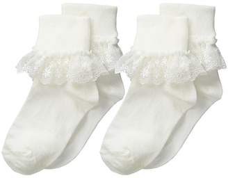Jefferies Socks Snow Queen Lace 2 Pack Girls Shoes