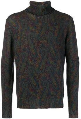 Etro patterned turtle neck jumper
