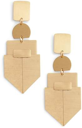 David Aubrey Geometric Drop Earrings