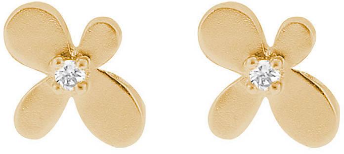 Crislu Sterling Silver Flower Stud Earrings