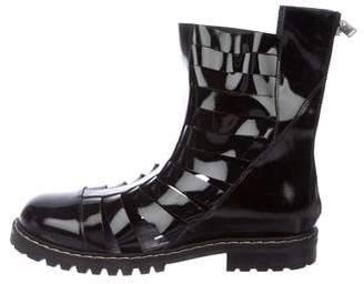 Gareth Pugh Biker Cutout Boots w/ Tags