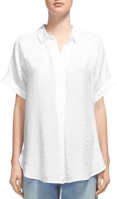 Whistles Ellen Short-Sleeve Shirt