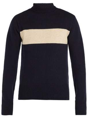 Oliver Spencer - Talbot Wool Roll Neck Sweater - Mens - Navy Multi