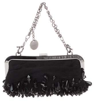 Gucci Embellished Tulle Frame Evening Bag