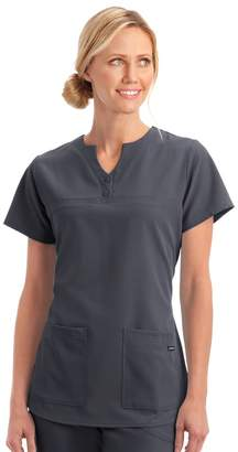 Jockey Plus Size Scrubs Classic Button Placket Short Sleeve Top