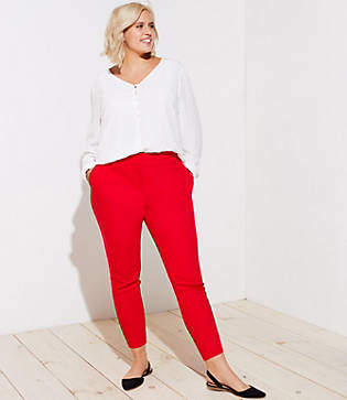 LOFT Plus Skinny Split Waist Pants