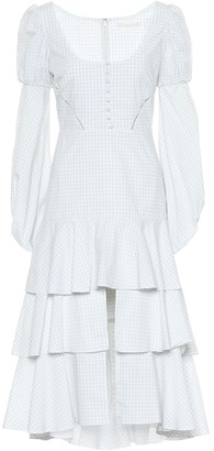 Jonathan Simkhai Cotton checked dress