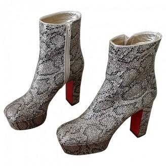 Christian Louboutin Multicolour Glitter Ankle boots