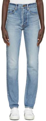 Saint Laurent Blue Original 90s High Waisted Jeans