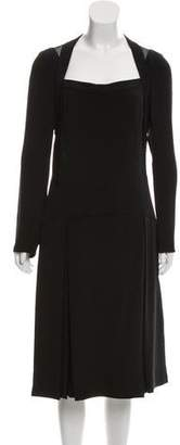 Maiyet Silk Long Sleeve Midi Dress