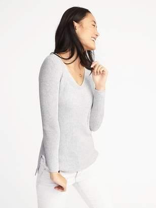 Old Navy Shaker-Stitch V-Neck Sweater for Women