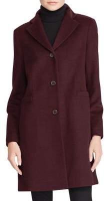 Lauren Ralph Lauren Wool-Blend Three-Button Coat