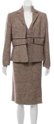 Valentino Tweed Sleeveless Dress Set